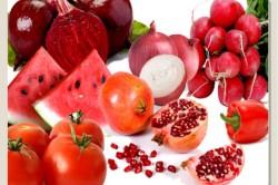 Употребление фруктов и овощей красного и оранжевого цветов