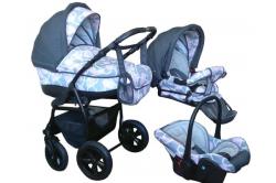 Удобная модульная коляска для новорожденных