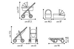 Типовые габариты колясок трансформеров