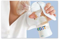 Использование молокоотсоса для сцеживания