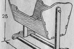 Схема люльки с указанием размеров